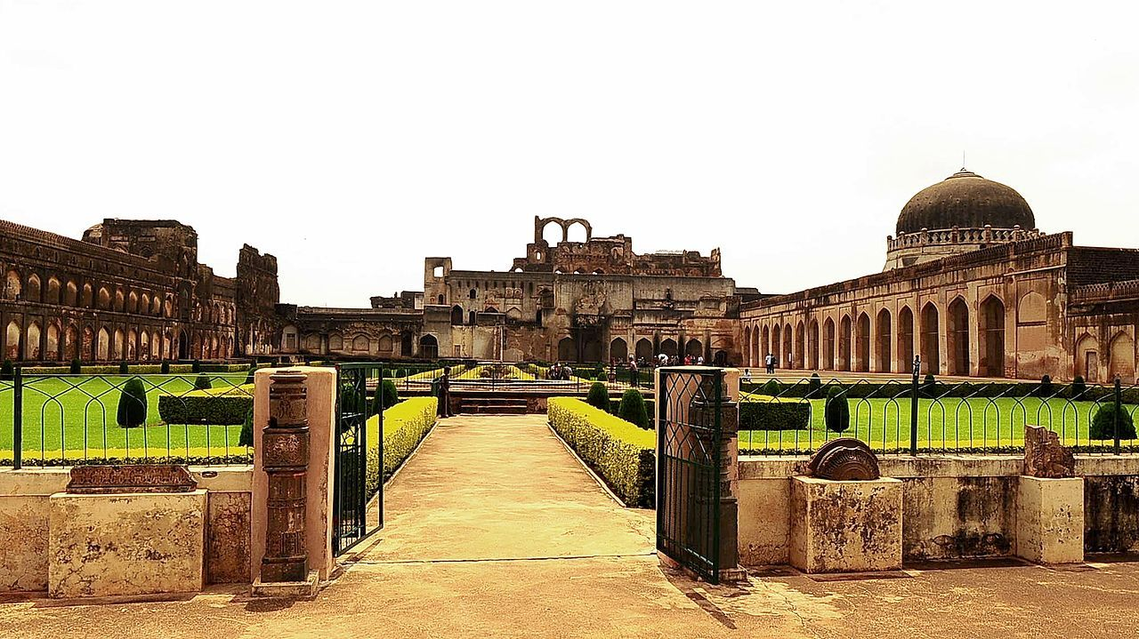 Front view of Bidar Fort in Karnataka