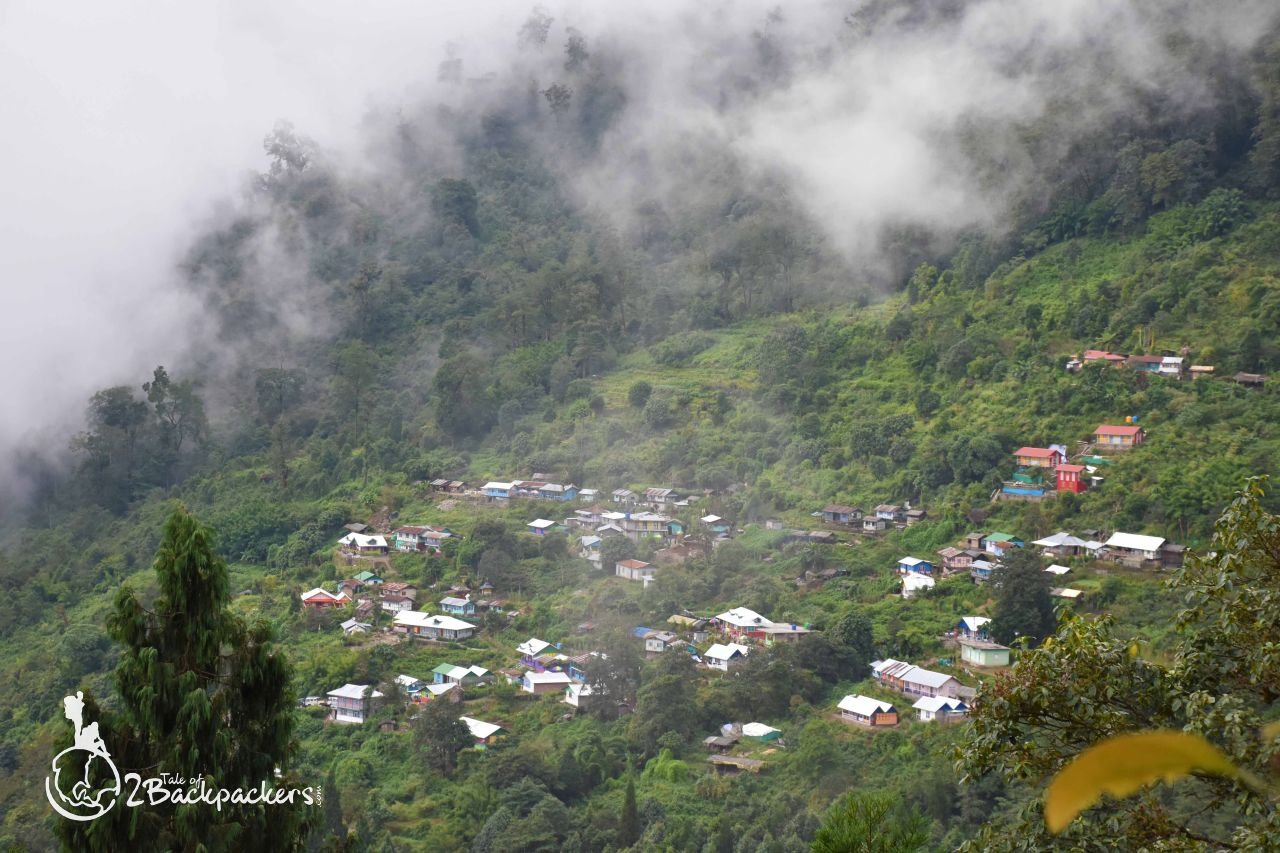 view of the village at Bidyang - offbeat weekend destination from Kolkata