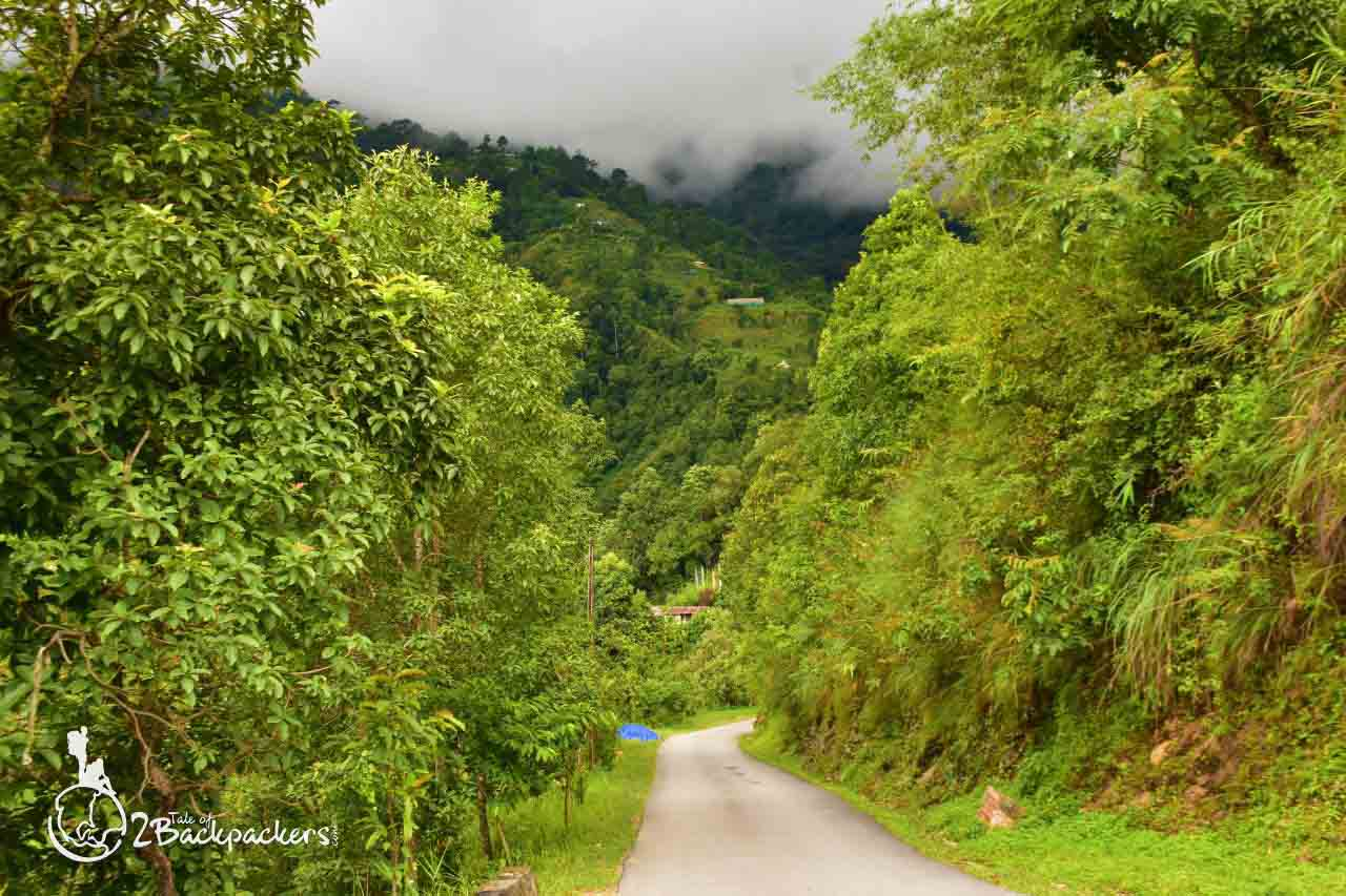 Road to Bijanbari - offbeat weekend getaway near Kolkata