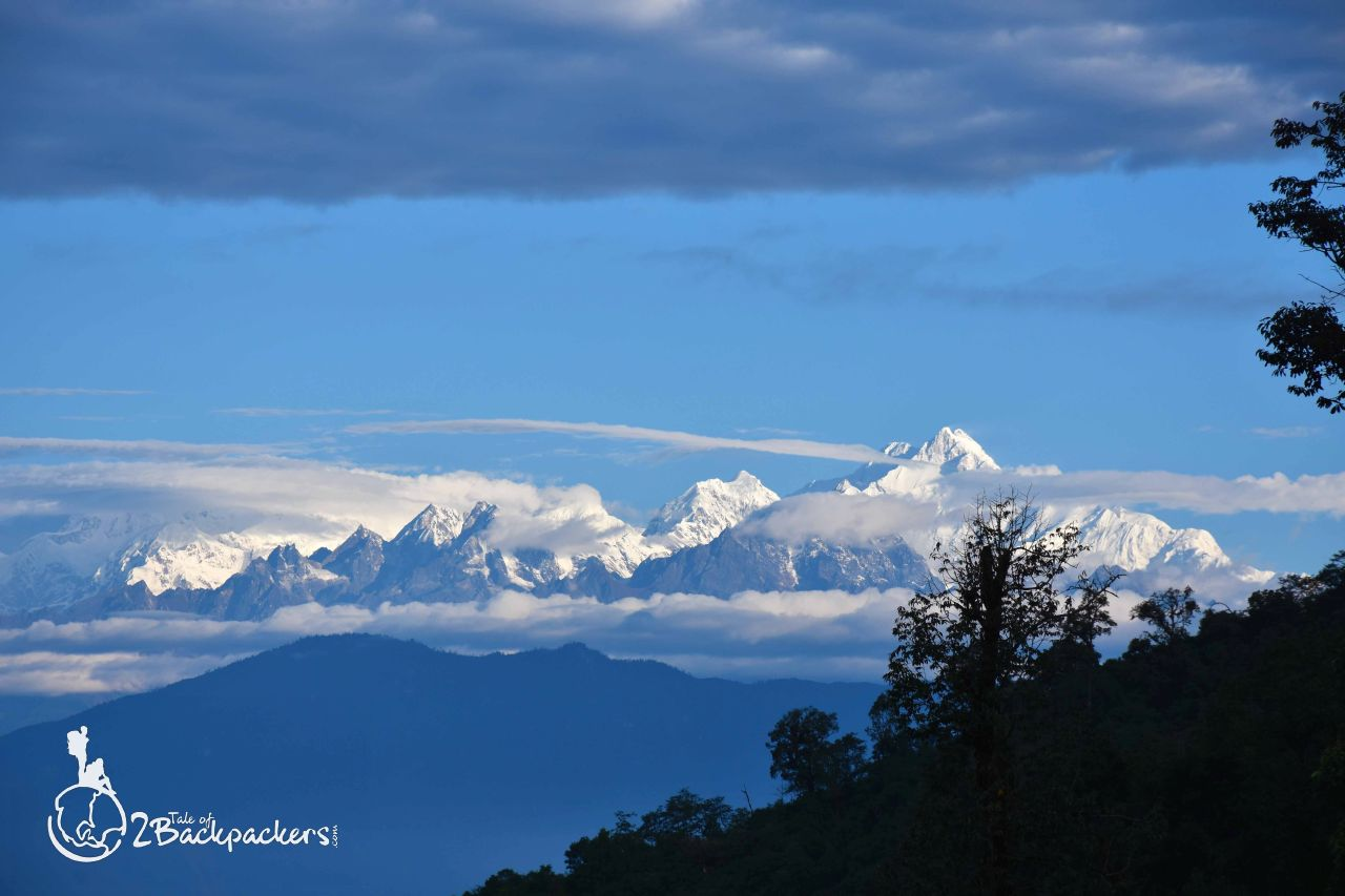 View of the mountain ranges - dawaipani - offbeat weekend getaways near Darjeeling