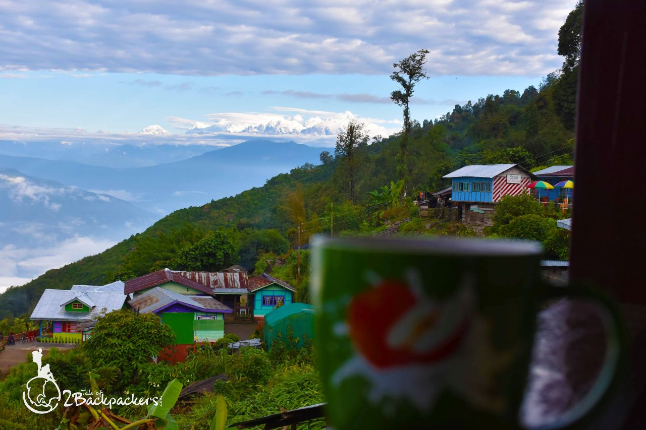 View of the village and Kanchenjunga ranges from the homestay at Icchey Gaon - an weekend getaway from Kolkata