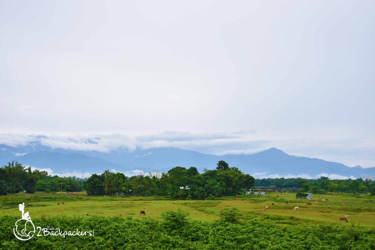 Village landscape at Lingsey - offbeat weekend getaways from Kolkata