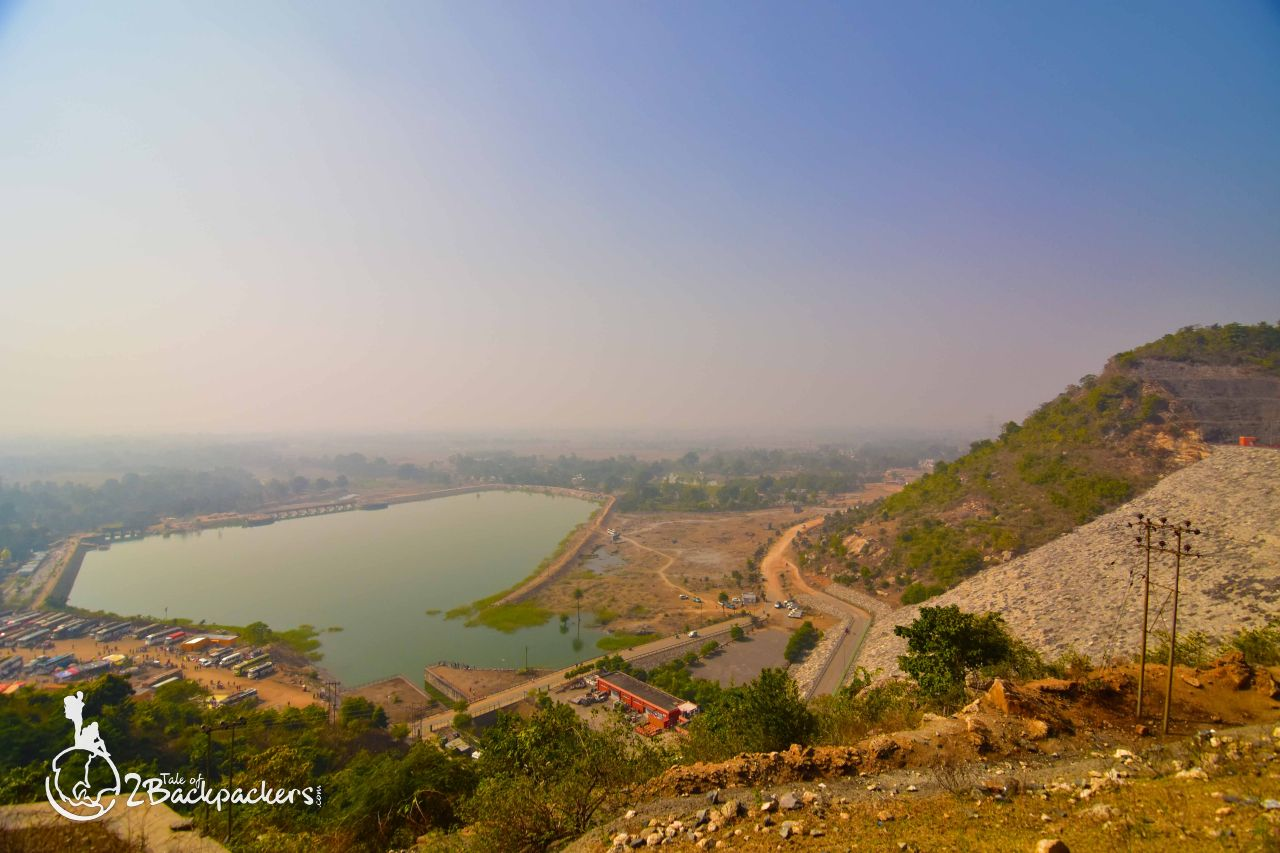 View of lake from Ayodhya Hills in purulia