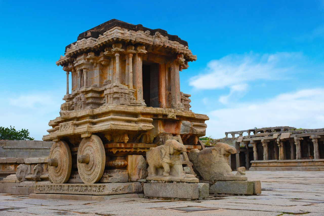 view of the Vittala Temple at Hampi