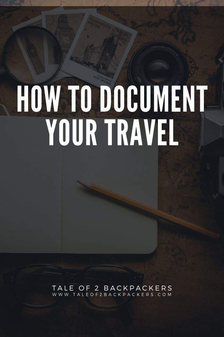 How to document your travel