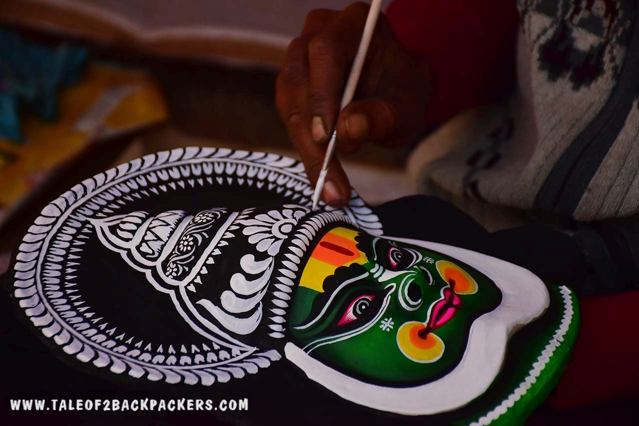 making of Chhau masks at Charida