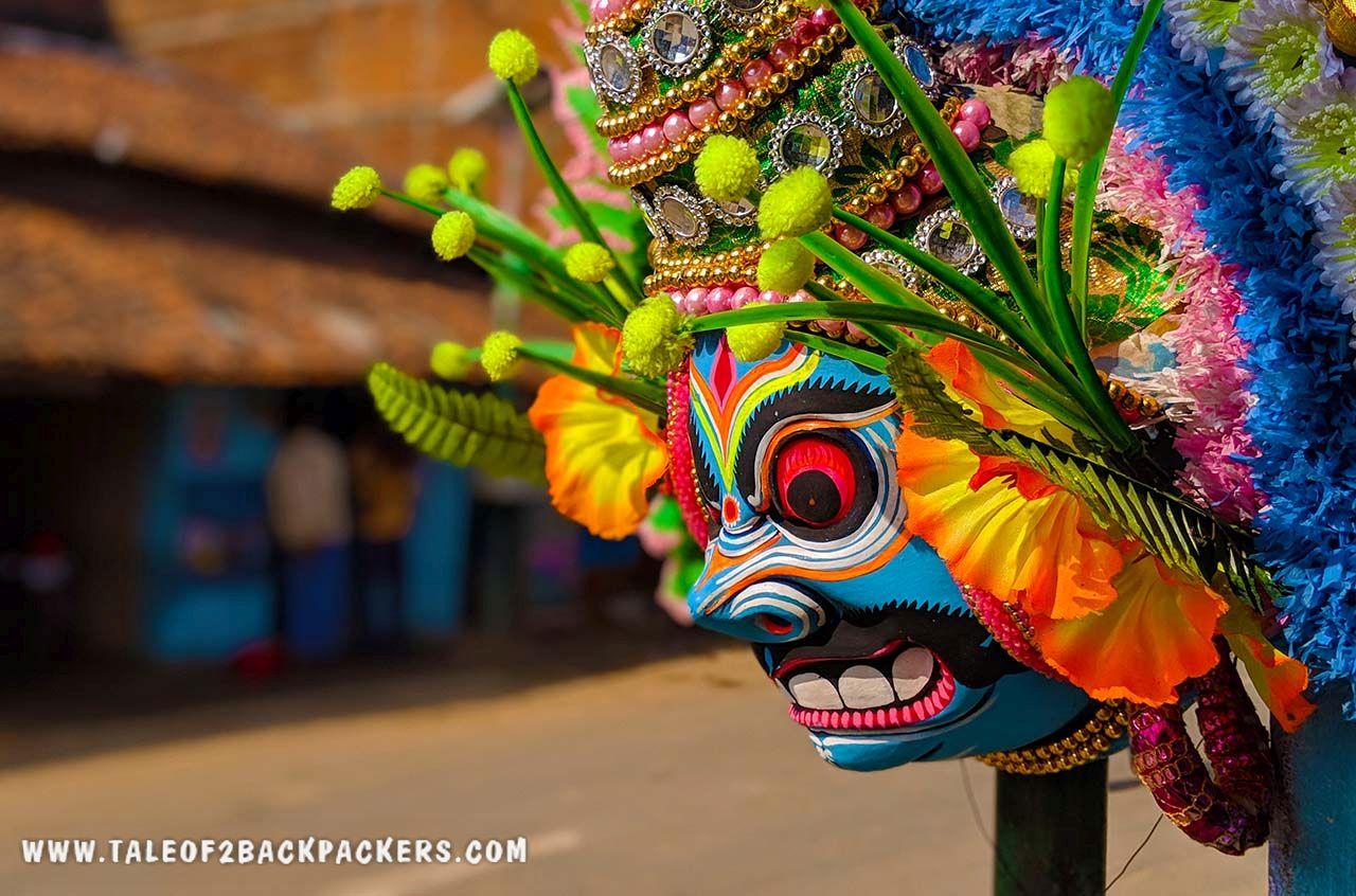 Purulia Chhau mask at Charia village in Purulia