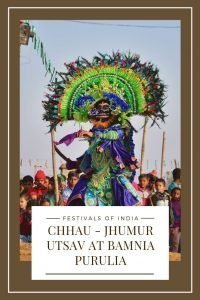 Purulia Chhau dance at Chhau Jhumur Utsav at Bamnia in Purulia