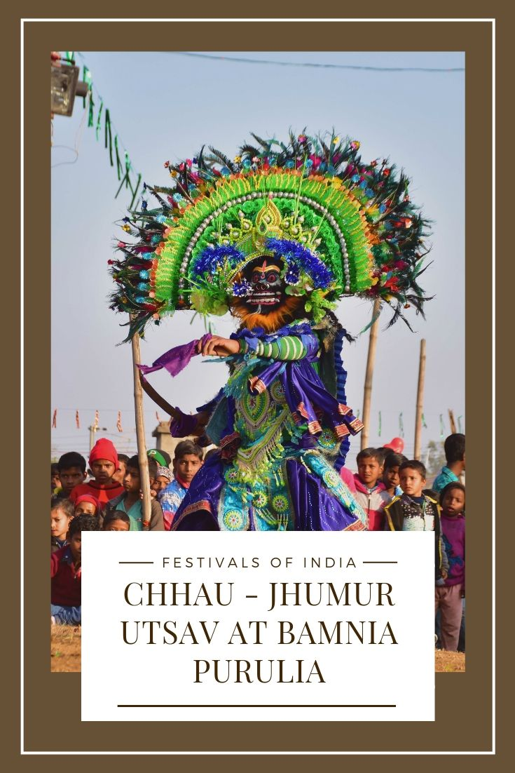 Purulia Chhau dance at Chhau Jhumur Utsav at Bamnia in Purulia