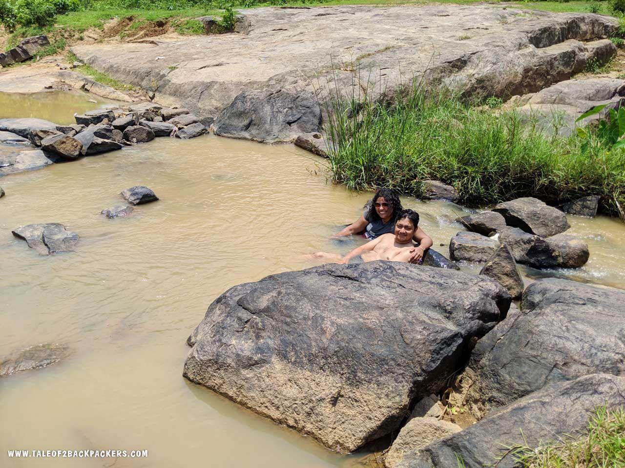 2 Backpackers at Duluri River in daringbadi