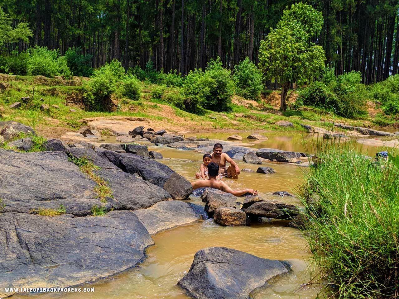 Having fun at Duluri River at Daringbadi