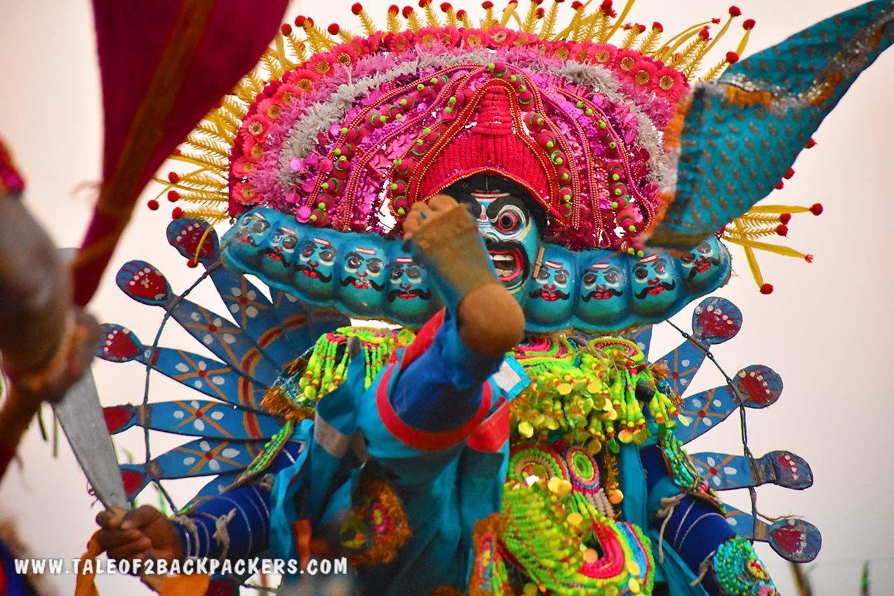 Dressed as Ravan at Purulia Chhau dance