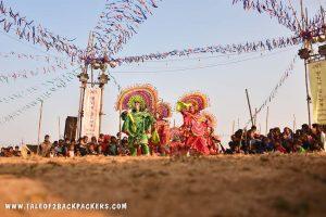 Purulia Chhau dance and Purulia Chhau mask