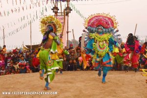 slaying of Ravan by Ram - Purulia Chhau Dance performance at Chhau-Jhumur Utsav in Bamnia