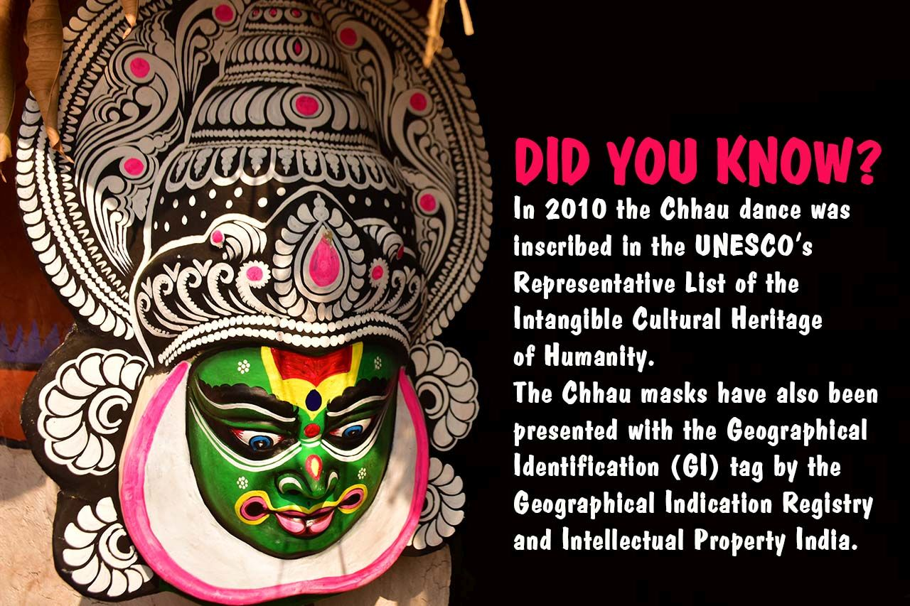 Chhau dance is in UNESCO Heritage list