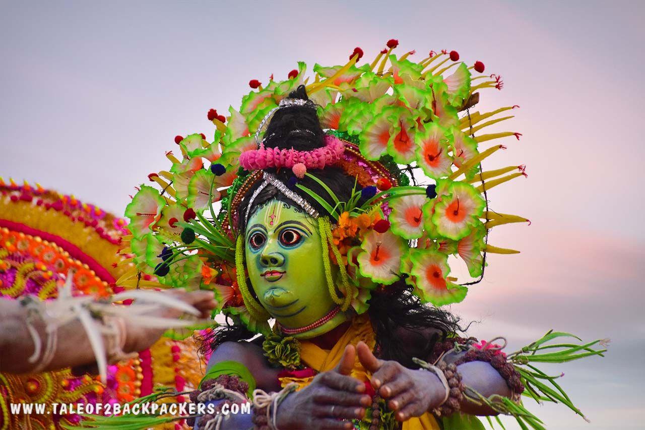 Shri Ram at purulia Chhau performance