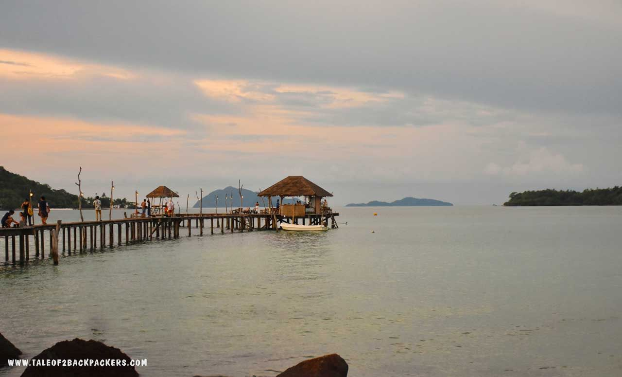 Sunset at Cocoscape Bridge at Koh Mak - Thailand - offbeat places to visit in Thailand