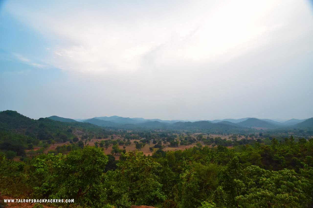 panoramic view of Daringbadi at the Sunset Point or Silent Valley