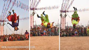acrobatic moves of Chhau