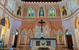 Interior of the Cathedral of Immaculate Conception at Chanthaburi