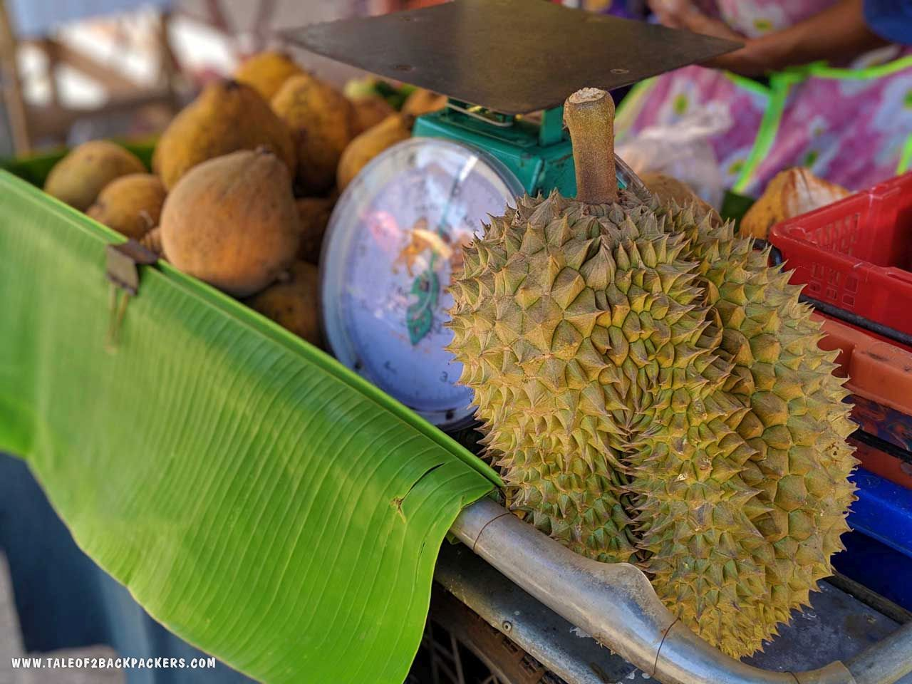 Durian and other fruits at Chanthaburi