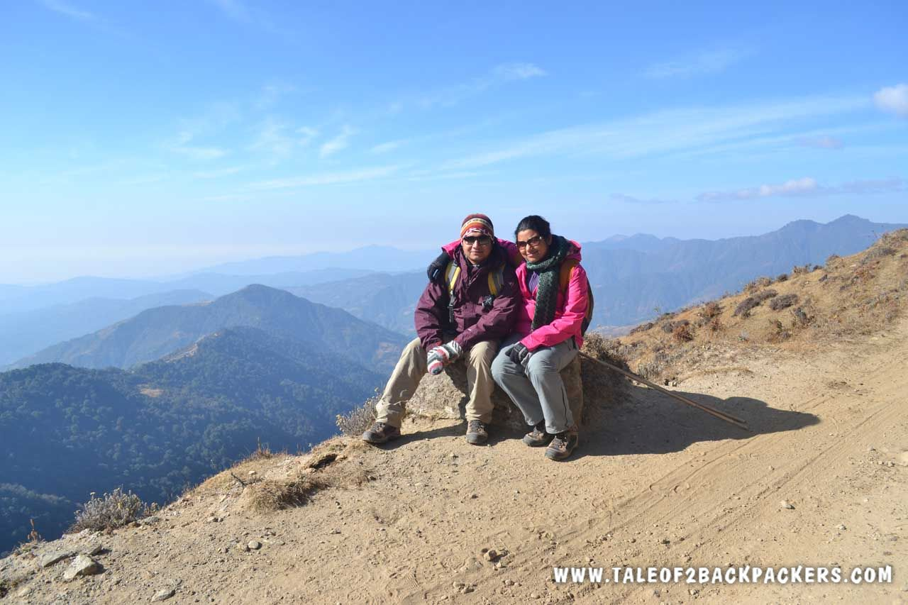 2 Backpackers at Sandakphu