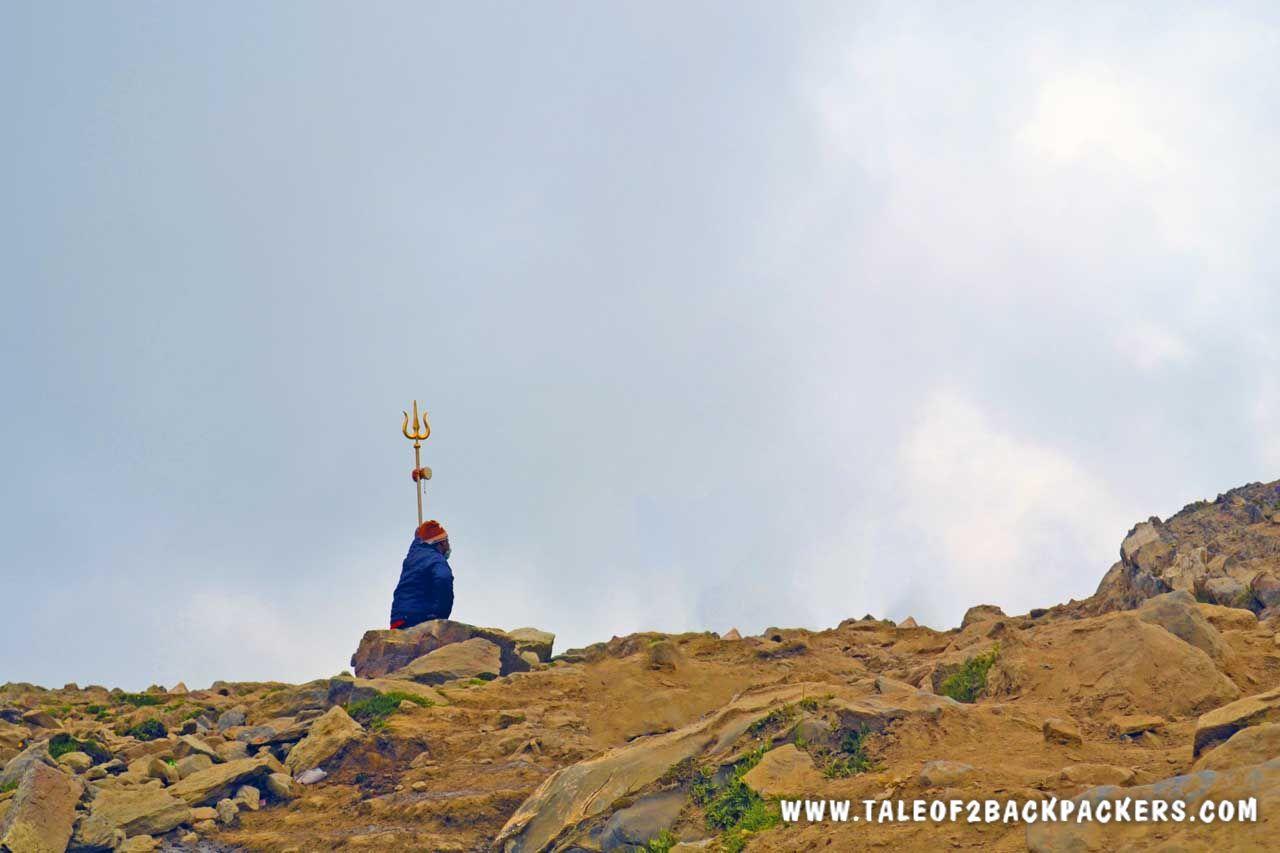 A Sadhu meditating - Legend of Amarnath Yatra