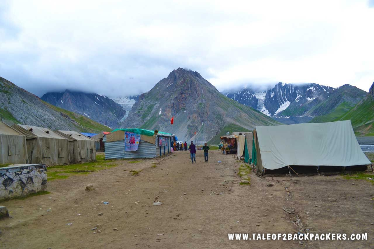 Indian Army camps at Amarnath