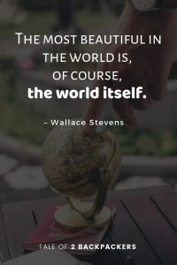 The most beautiful in the world is, of course, the world itself - best travel quotes