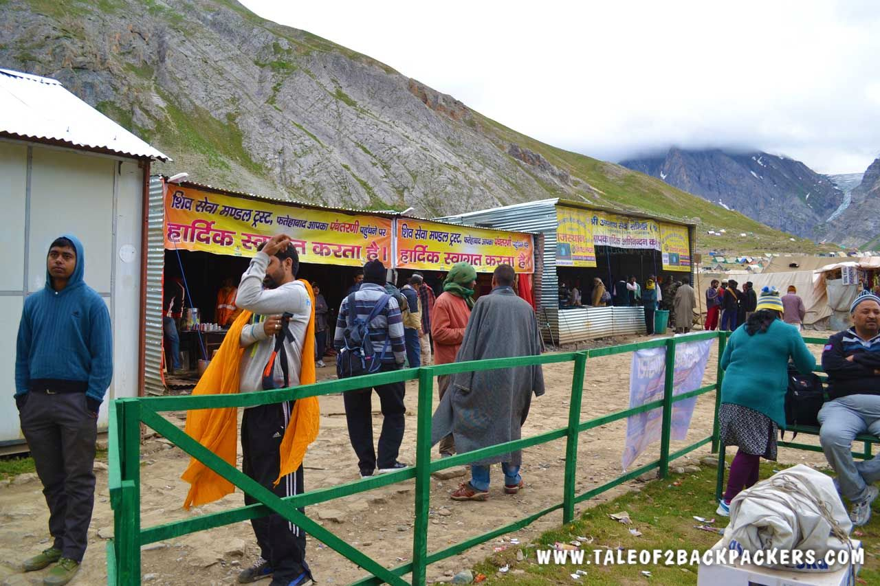 Bhandara on the Amarnath Yatra trek route