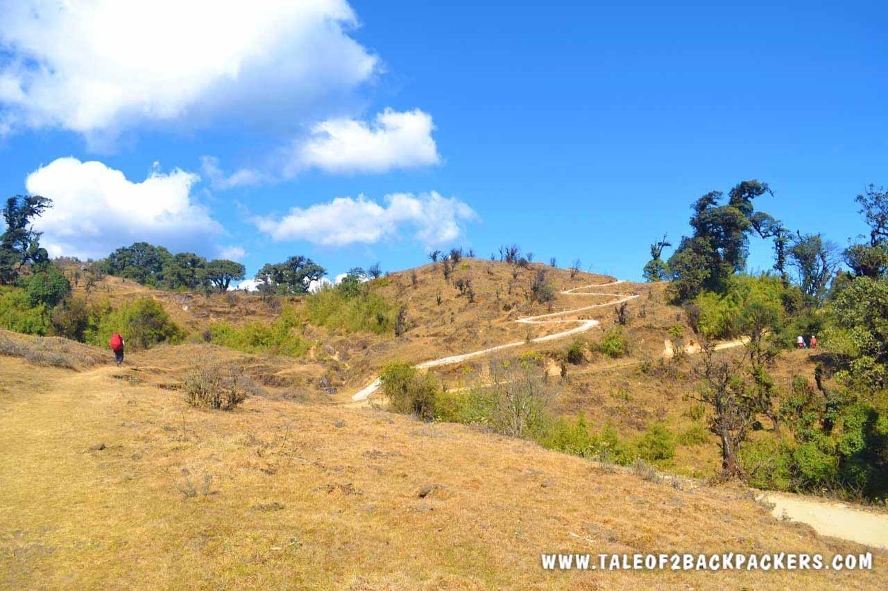 trekking trail to Sandakphu
