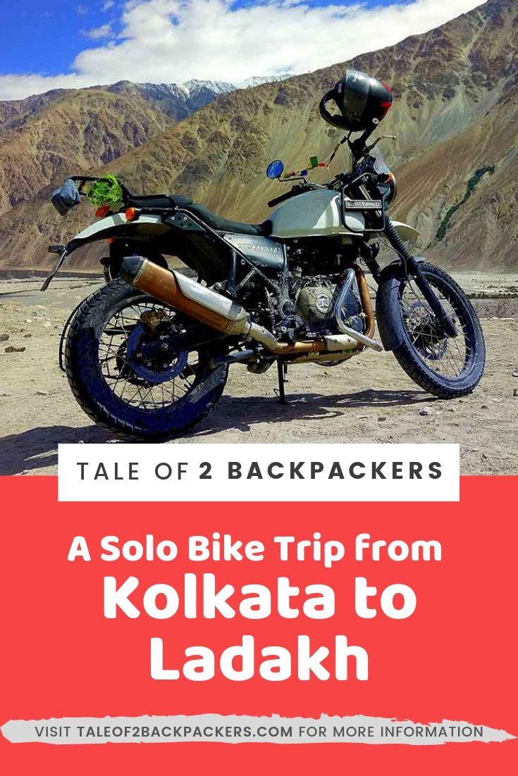 Kolkata to Ladakh Bike Trip - pinterest