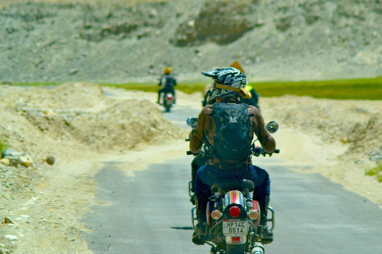 Ladakh bike trip - on way to Pangong Lake
