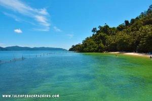 island hopping at Kota Kinabalu - Manukan Island