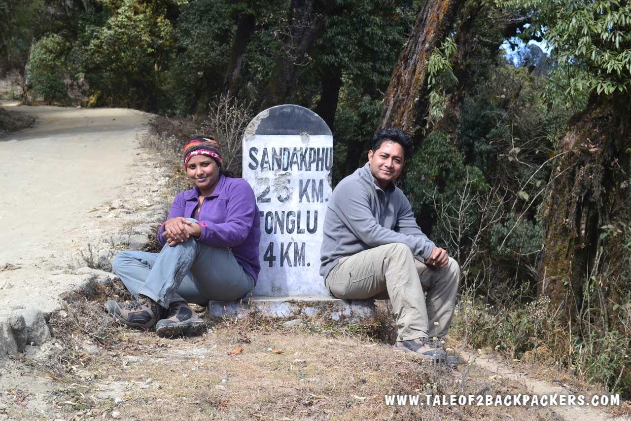 Milestone at Sandakphu trek route