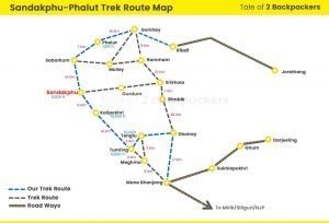Sandakphu Trek Map with Phalut