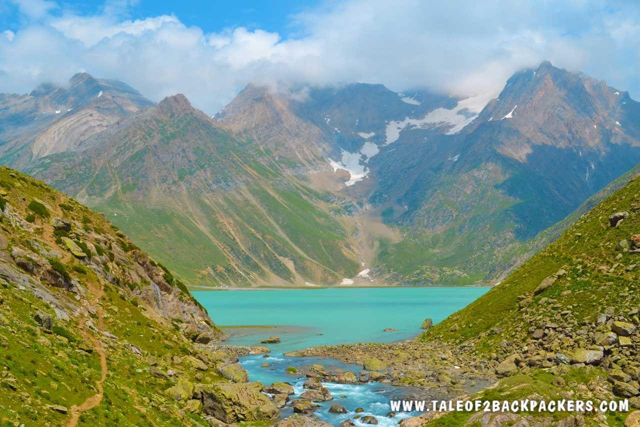 The emerald green Seshnag Lake on Amarnath Yatra Route