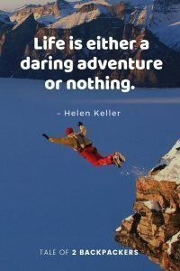 Life is either a daring adventure or nothing - adventure quotes