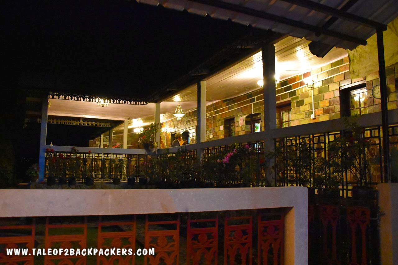 Verandah of Saino Heritage Guesthouse at night - Takdah