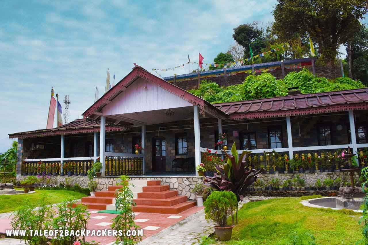 entrance and lawn of Saino heritage bungalow