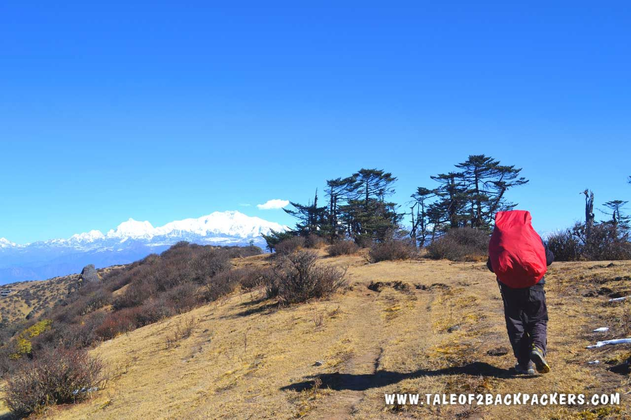 hiking on the Sandakphu Trek