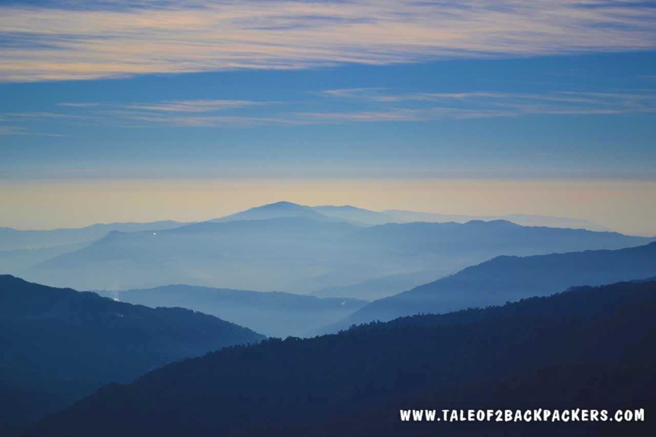 mountain views on Sandakphu Phalut trek route