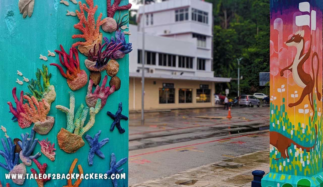 corals are threatened species - created on the walls of Sabah