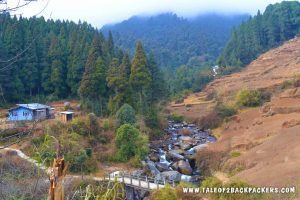 river at Gorkhey village