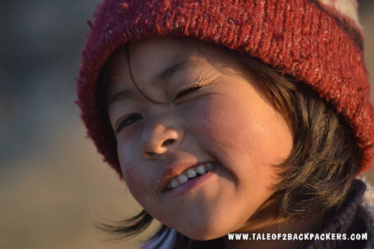 smiling kid at Kalipokhri