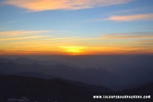 sunrise at Sandakphu