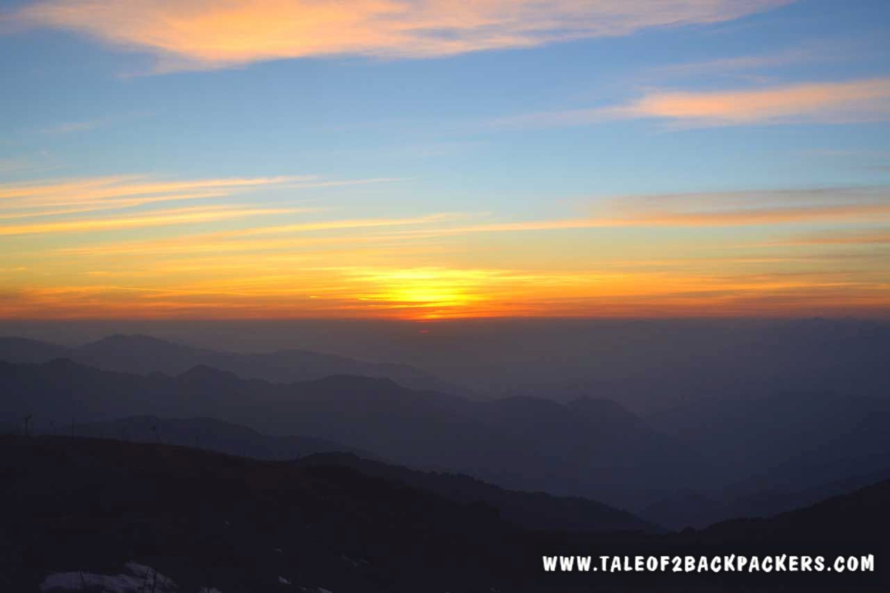 sunrise at Sandakphu
