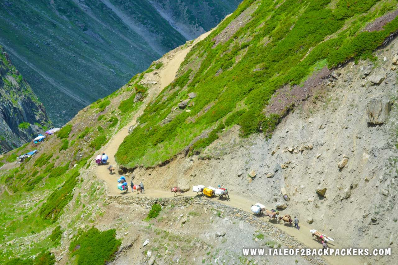 towrads the Sangam at Amarnath Trek Route