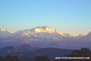 view of the moutain ranges from Sandakphu