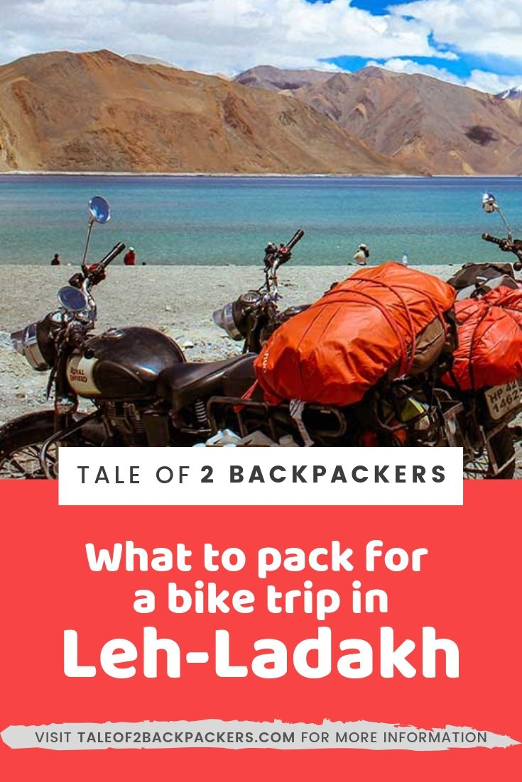 what to pack for a bike trip in Ladakh